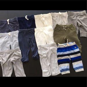 LIKE NEW - 12 pairs Baby boy pants